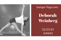2° WORKSHOP EM IYENGAR YOGA COM DEBORAH WEINBERG