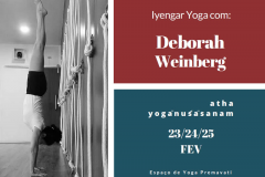 WORKSHOP EM IYENGAR YOGA COM DEBORAH WEINBERG