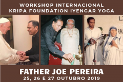 WORKSHOP INTERNACIONAL  KRIPA FOUNDATION IYENGAR YOGA COM FATHER JOE PEREIRA